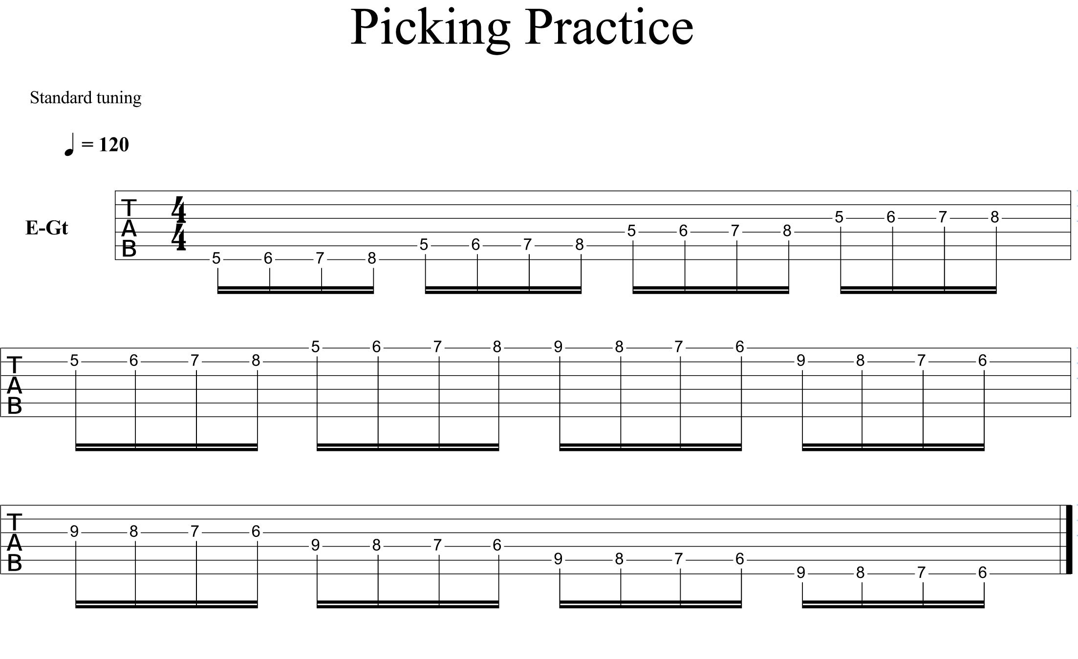 Picking Practice