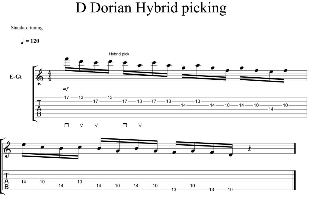 D Dorian Hybrid picking